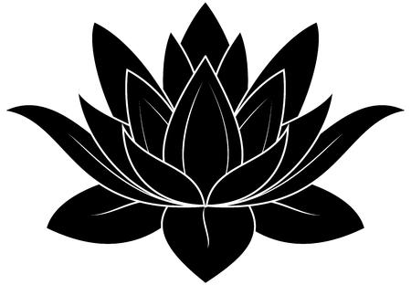 ilustración de gran flor de loto Ilustración de vector