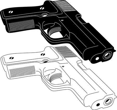 ammo: Gun Silhouette Illustration