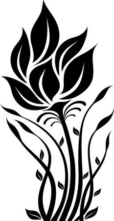 illustration of flowers silhouette