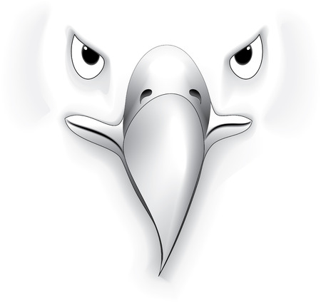 illustration vector for great eagle Face silhouette