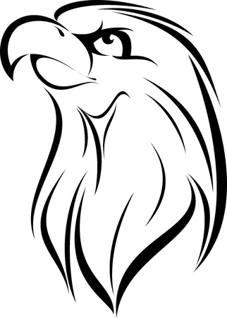 illustration vector for great eagle Face silhouette Vector