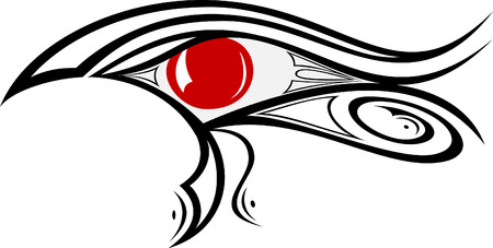 illustration of Egyptian god eye Ra   Vector