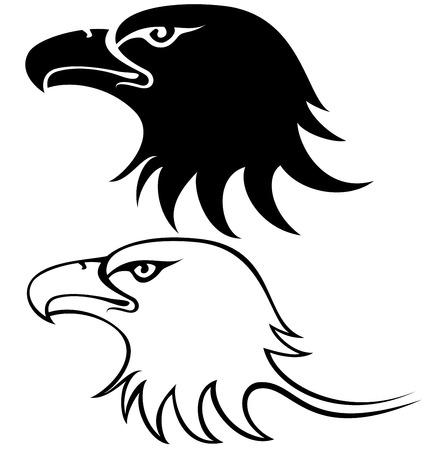 halcón: ilustración vectorial para el gran águila silueta de la cara Vectores