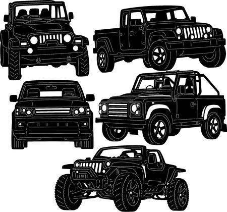 4x4 Truck Silhouette Vector