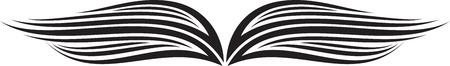 Illustration of Wings Ornaments Silhouette Banco de Imagens - 29123037