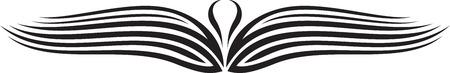 Illustration of Wings Ornaments Silhouette Banco de Imagens - 29123038