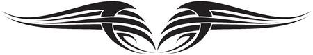 Illustration of Wings Ornaments Silhouette Banco de Imagens - 29123044