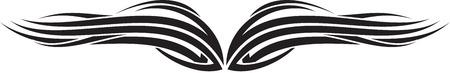 Illustration of Wings Ornaments Silhouette Banco de Imagens - 29123045