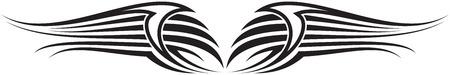 Illustration of Wings Ornaments Silhouette Banco de Imagens - 29123048