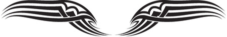Illustration of Wings Ornaments Silhouette Banco de Imagens - 29123049