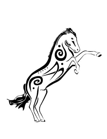 spirited: A tribal inspired horse