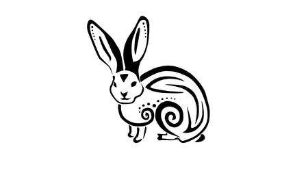 lapin: Un lapin tribal a inspiré