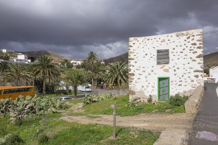 grey  sky: Ruined building under a grey sky in Betancuria Fuerteventura Canary islands Las palmas Spain