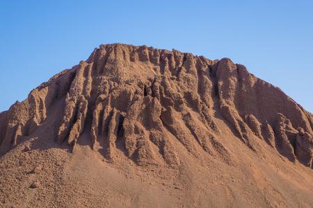 mound: Textures on earth mound Canary islands; Correlejo; Fuerteventura; Spain  RF Stock Photo