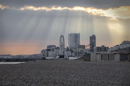 pepples: Brighton East Sussex UK summertime blue sky
