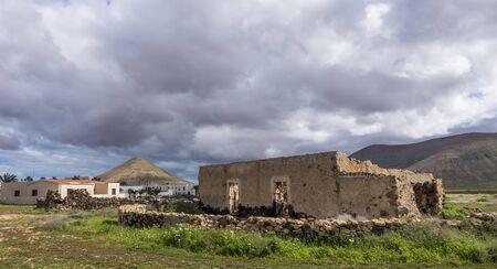 oliva: Ruin in La Oliva Fuerteventura, Las Palmas, Canary Islands, Spain Stock Photo