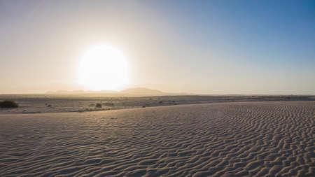 corralejo: Corralejo beach, National-park, Corralejo, Fuerteventura, Canary-Islands, Spain
