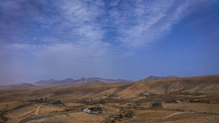 Mountain views in Fuerteventura in the Canary-islands Stock Photo