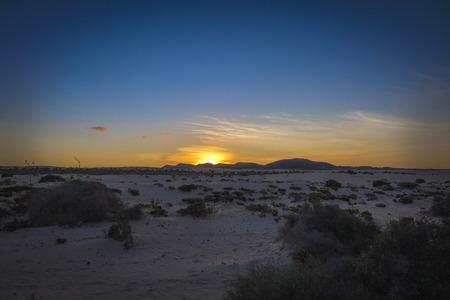 Natural-park Corralejo in Fuerteventua the Canary Islands, Spain Stock Photo