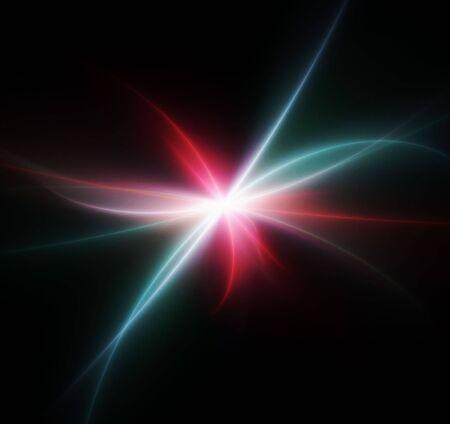 abstract galaxy fractal Stock Photo