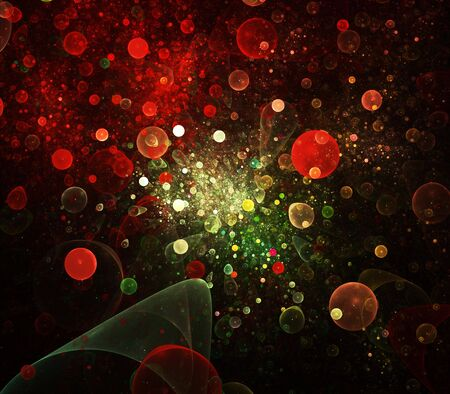 Abstract bubbles background photo