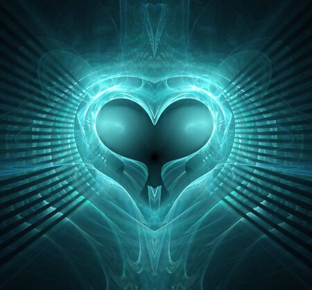 Abstract background with heart.  Stock Photo - 4813255