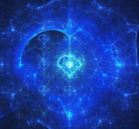 fractal design element or art background: Abstract background. blue palette.