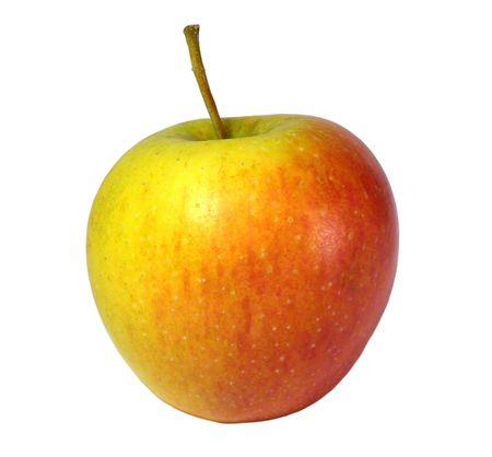One apple isolated on white background Stock Photo