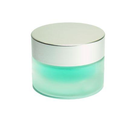 jar of cream isolated on white background Stock Photo
