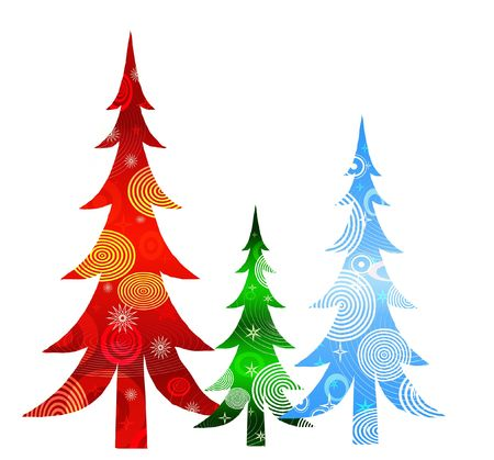 christmas trees: background for Christmas (New Year) card .