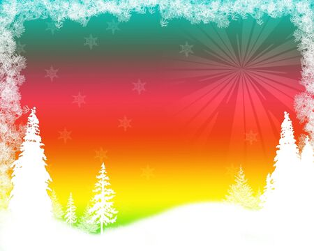 background Christmas (New Year) card . Stock Photo - 7820617