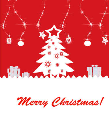 background Christmas (New Year) card . Stock Photo - 8391316