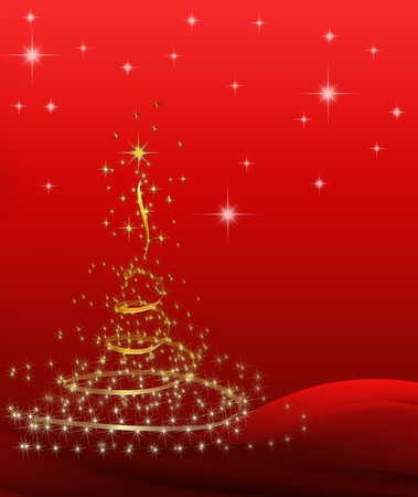 background for Christmas (New Year) card . Stock Photo - 8391323