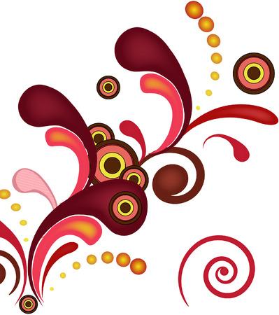 Floral de ráfaga de fondo de color