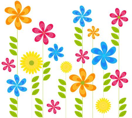 spring flowers Vector
