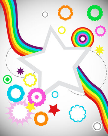 rainbow Wave illustration  Vector