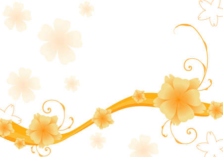 Abstract floral background. Vector.  Vector