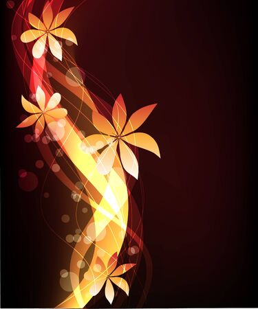abstract glowing background Stock Vector - 9299460