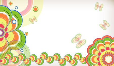 Abstract floral background. Vector. Stock Vector - 9387483