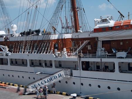 ODESSA, UKRAINE - JULY 10,2011: Passenger ship M/S Sea Cloud II (Built: 2001, Flag: Malta) visit Port of Odessa  in Odessa, Ukraine, 10 July 2011 Stock Photo - 9900235