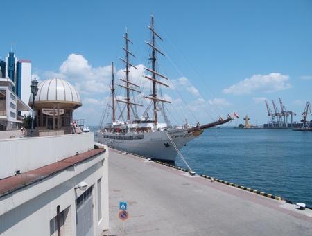ODESSA, UKRAINE - JULY 10,2011: Passenger ship M/S Sea Cloud II (Built: 2001, Flag: Malta) visit Port of Odessa  in Odessa, Ukraine, 10 July 2011 Stock Photo - 9916205