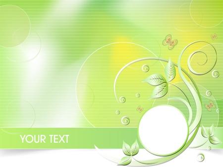 green vector business card