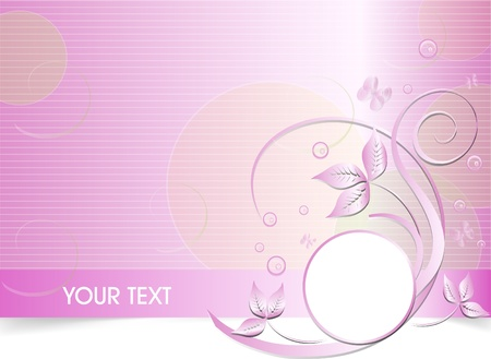 business card template: pink vector business card