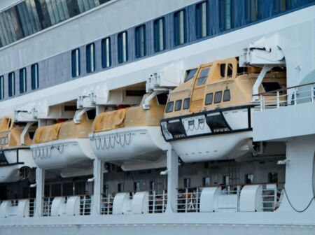 ODESSA, UKRAINE - AUGUST 01,2011: Passenger ship M/S AIDA AURA (Built: 2003, Flag: Italy) visit Port of Odessa on 01 August, 2011 in Odessa, Ukraine. Stock Photo - 10166002