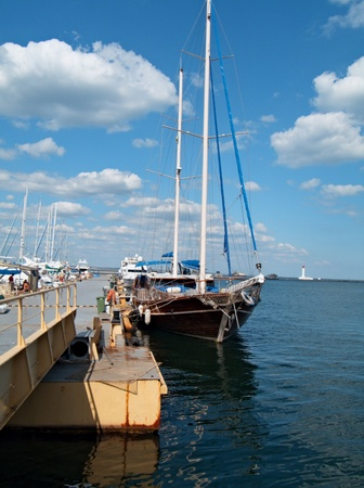 yachts on an anchor in harbor  Stock Photo - 10374034