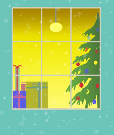 Beautiful background Christmas (New Year) card . Stock Photo - 11177634