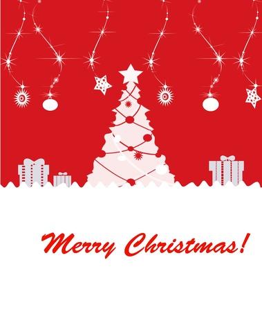 Beautiful background Christmas (New Year) card . photo
