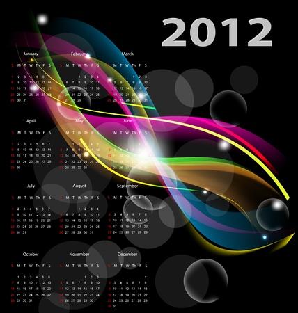 calendar 2012 Illustration