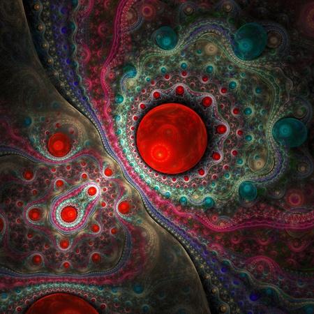 抽象的な背景。赤パレット。
