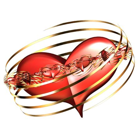 abstract  background of 3d  heart photo